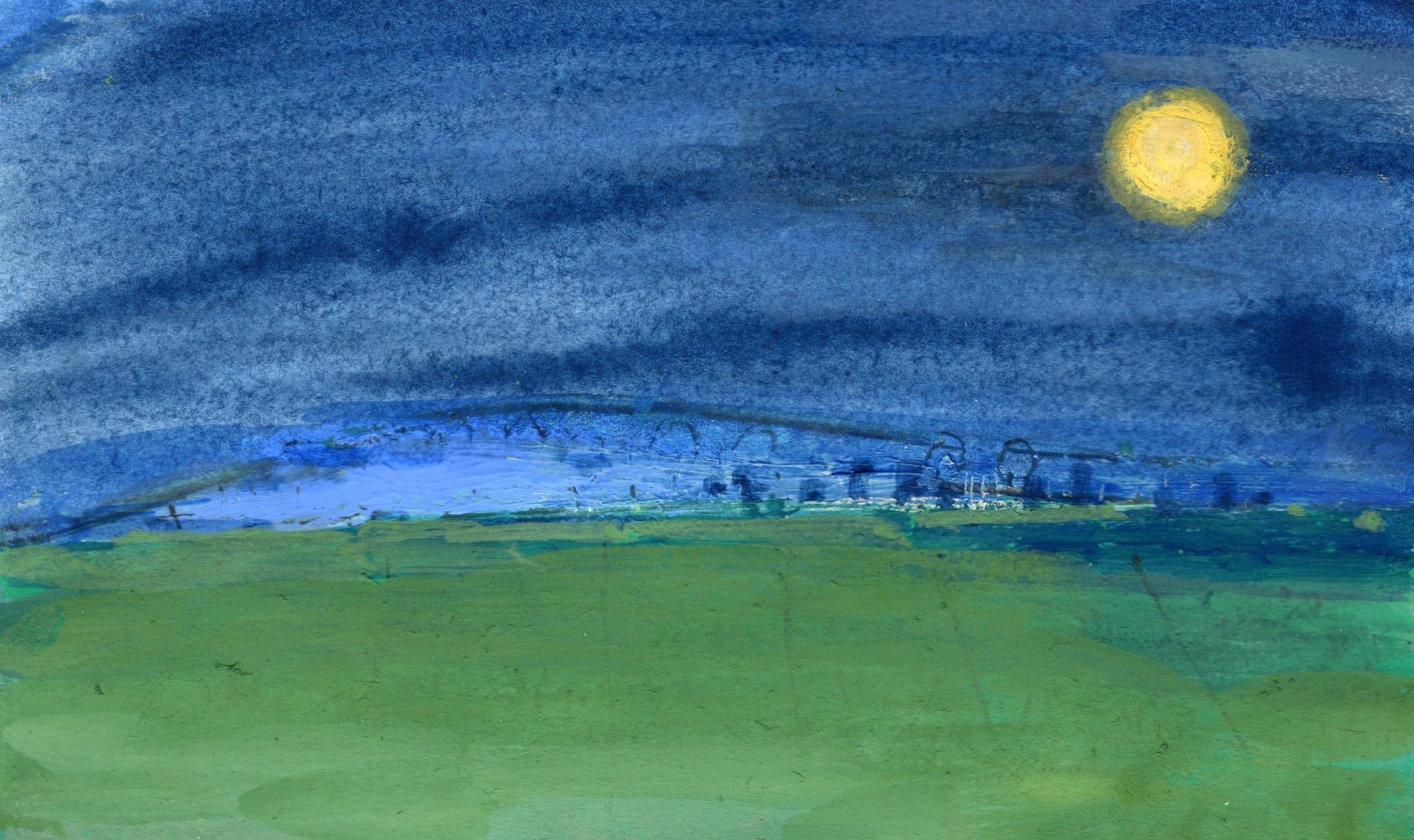 【朧月夜/がきえとかっちん】アートワークby浜あずさ(Hama Azusa)